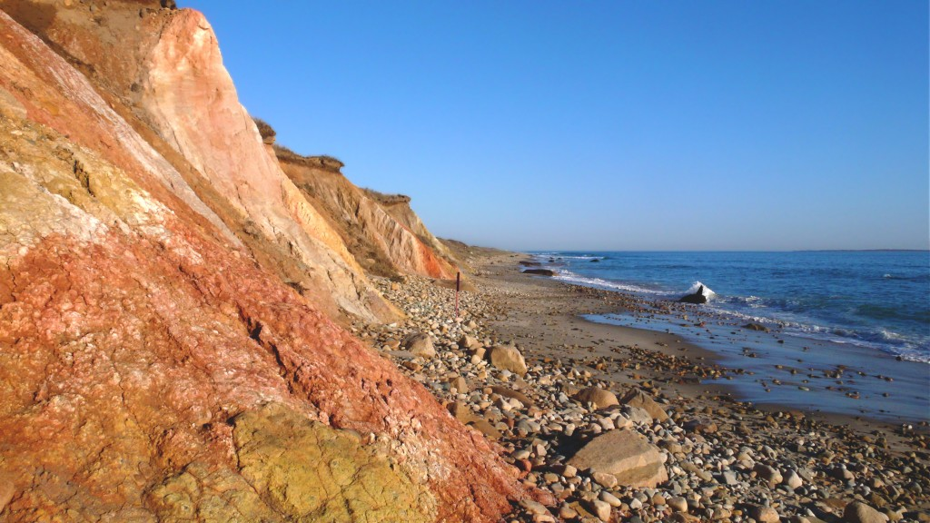 Aquinnah cliffs in Martha's vineyard in woods hole ferry