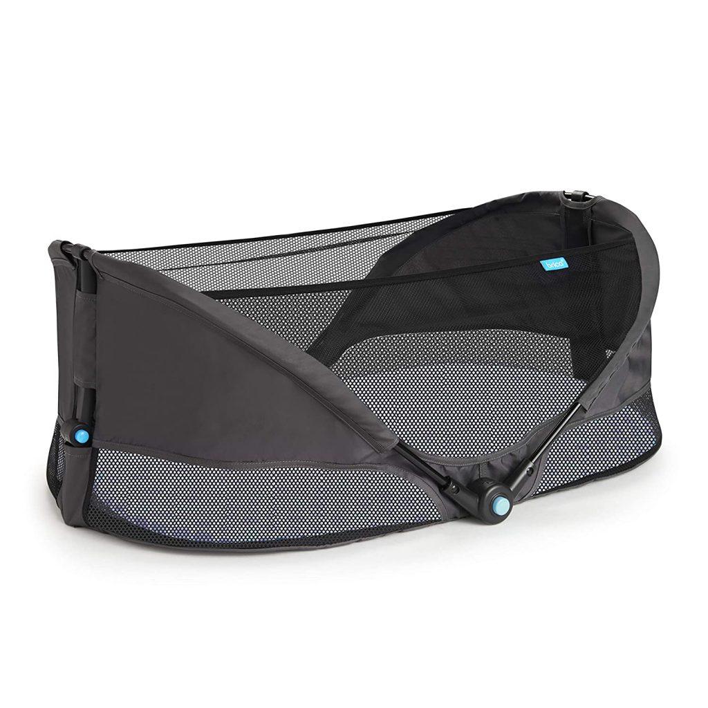 brica fold and go travel bassinet